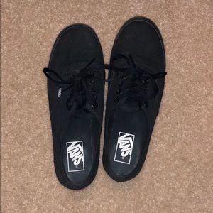 Barley worn Black Vans